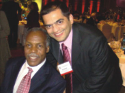 Danny Glover with Subhash at the ASTA IDE Farewell dinner