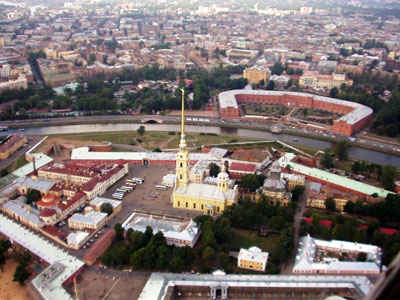 The Peter and Paul Fortress- Arial View